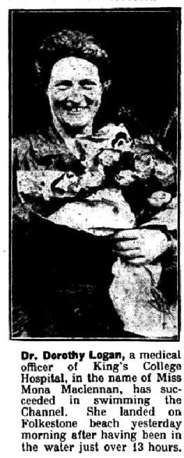 Logan with flowers - Nottingham Journal 12 Oct 1927