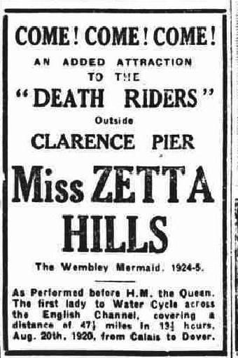 Zetta Hills and the Death Riders - The Evening News 18/9/1930