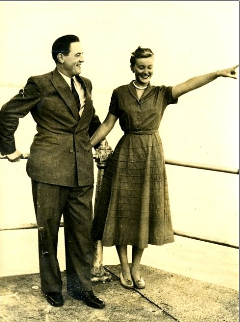 Fernand du Moulin and Shirley May France  in Belgium, August 16, 1949