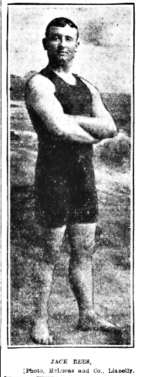 Jack Rees from The Weekly Mail newspaper 22nd August 1908