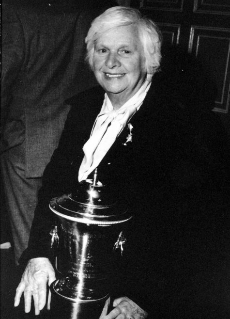 Sunny Lowry with the Sunny Lowry cup