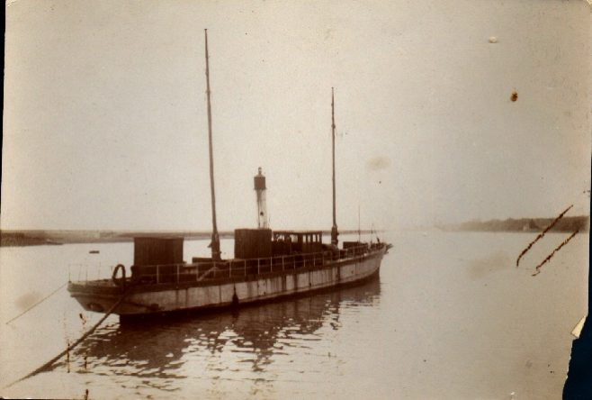 Jabez Wolffe's support boat the 'Sea Wolf' in Shoreham Harbour