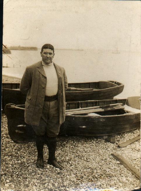 Channel Swimmer Jabez Wolffe on Dover beach