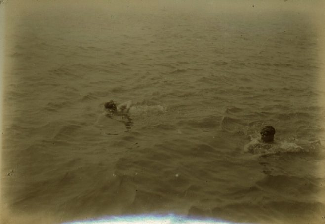 Channel Swimmers Wolffe and Kellingley