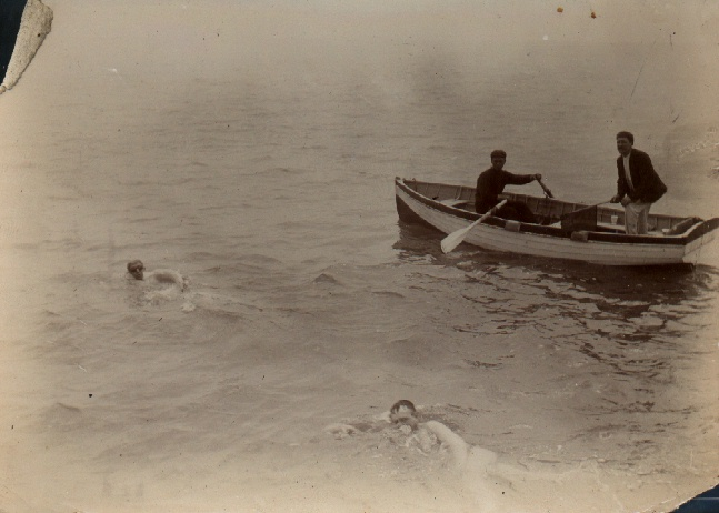 Channel Swimmer Wolffe and pace maker Moses.