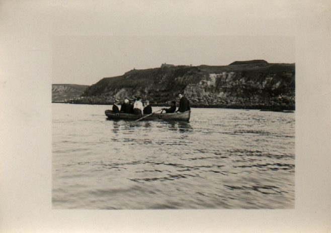 Channel swimmer and his team off Cape Griz Nez. (Holbein) about 5.30 p.m.
