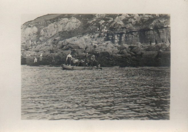 Channel Swimmer and team at Cape Griz Nez. (Holbein) about 5.30 p.m.