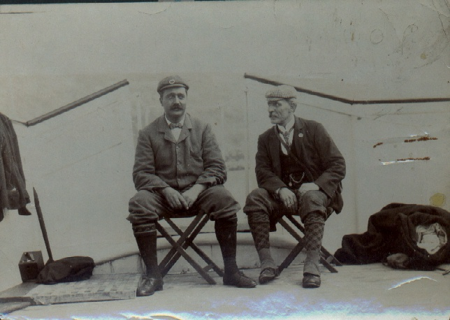 Holbein (left) and member of  support team