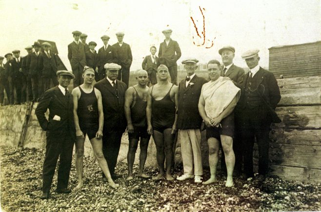 Four Channel swimmers