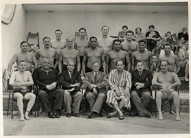 Channel swim competitors from Egypt at Folkestone pool