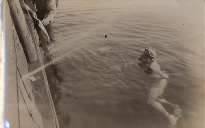 Channel swimmer T.W. Burgess