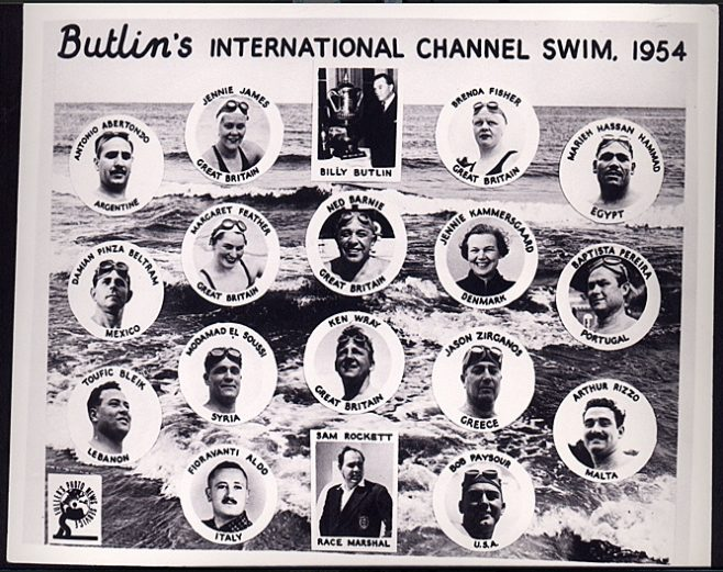 Butlins International Channel Swim PR Card