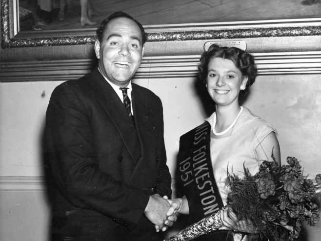 Sam Rockett with Miss Folkestone 1951