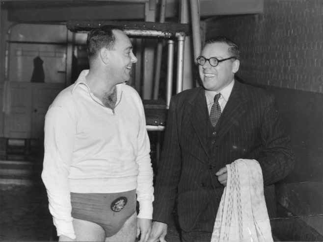 Sam Rockett with his coach Ted Temme.