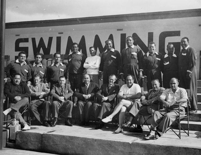 Sam Rockett & Egyptian Channel Swim Team 1952