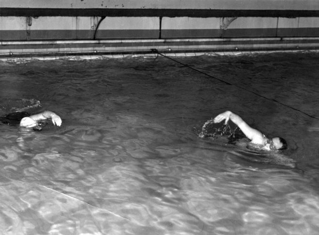 Swimmers in Training session.