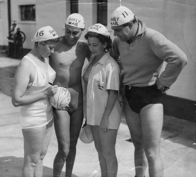 Channel swimmers Andersen, Cruz, Boutagy & Rockett