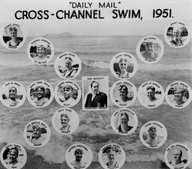 Sam Rockett & Channel Swimmers for 1951 Race