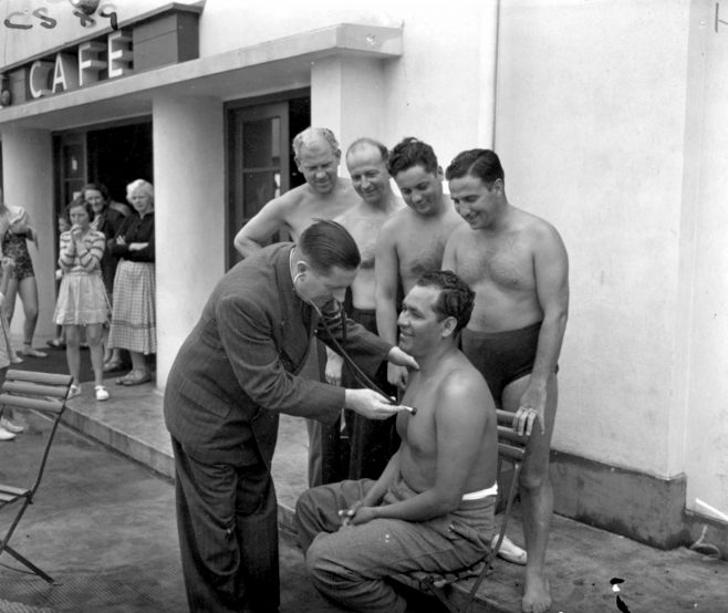 Medical check for 1951 Race