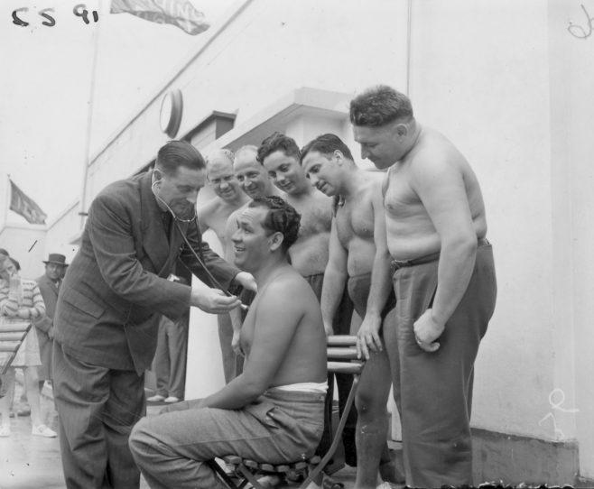 Medical at Folkestone pool 1951