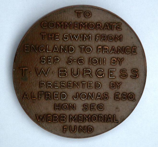 Burgess Channel Swim Medal