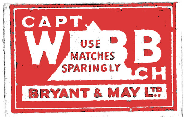 Red and White Box Captain Webb Matches