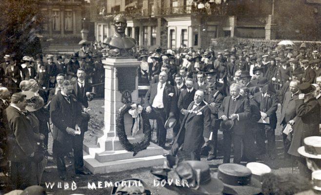 Unveiling Capt. Webb's Memorial