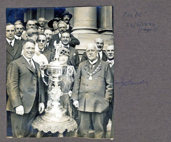 Photograph of Henry Sullivan with Alderman Bussey J.P.(Deputy Mayor)