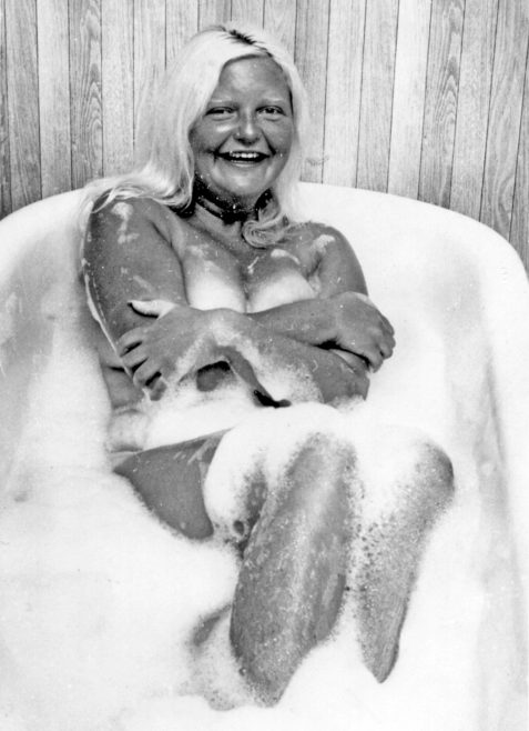 Channel Swimmer Rosemary George in the bath