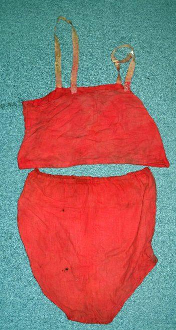 Sunny Lowry's Two Piece Costume worn on 1933 Channel Swim
