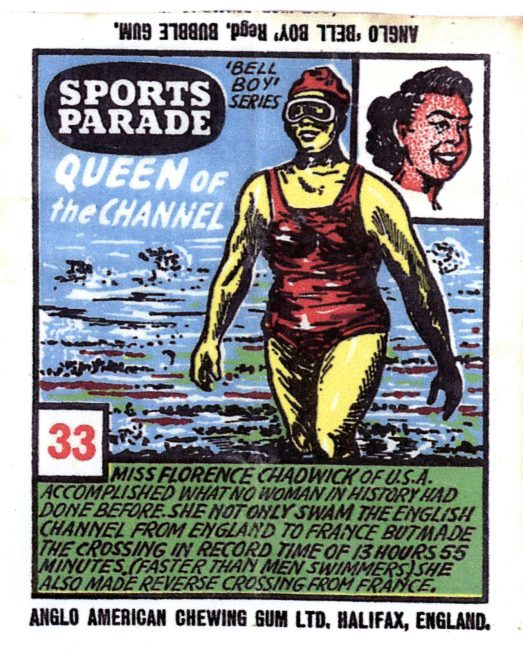 'Queen of the Channel' Chewing Gum Wrapper c.1955