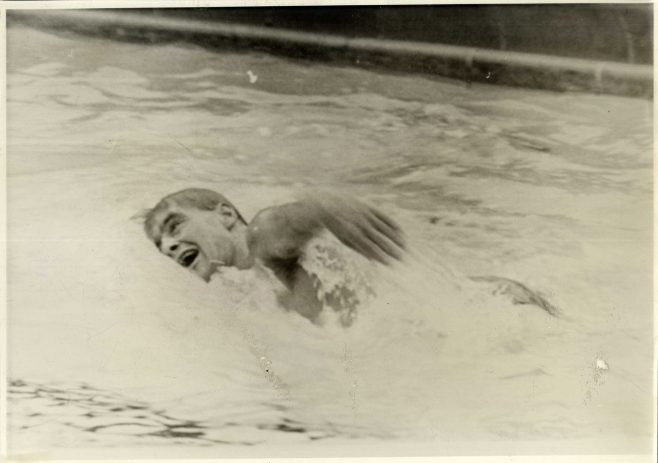 Peter Hatfield, Phoenicians Relay, Training in the Swimming Pool.