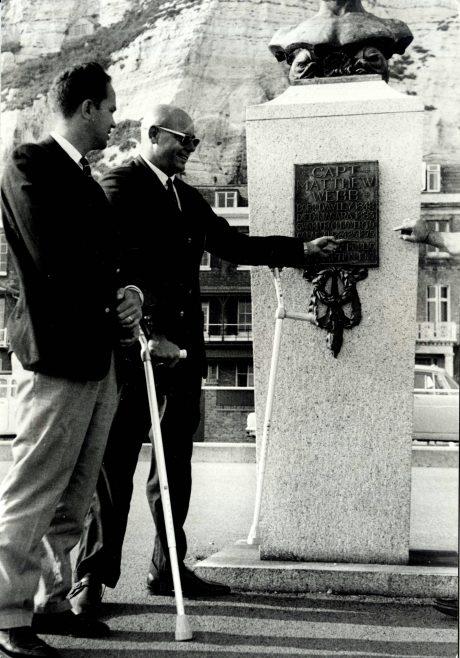 Harry Hinken at Captain Webb's Memorial