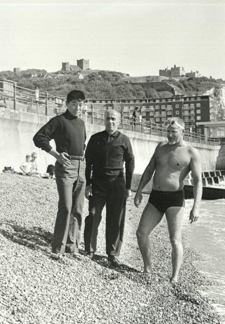 Tanaka and Ted Erikson on Dover Beach.