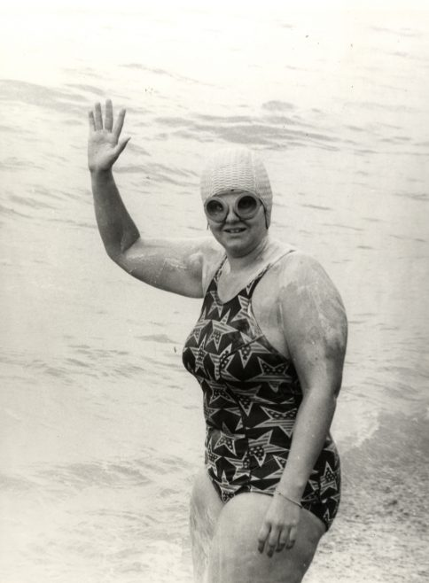 Rosemary George on a Channel swim