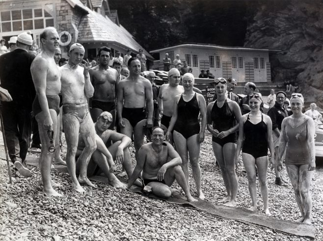 Competitors for BLDSA Torbay swim 1961