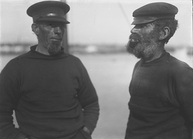 Two Dover boatmen from Sullivan's pilot boats