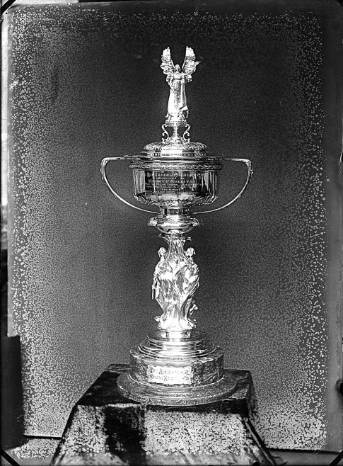 Glass Negative Showing The Alexander Channel Cup.