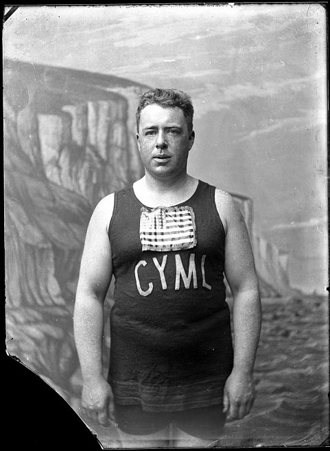 Henry Sullivan, Portrait photograph of Channel swimmer