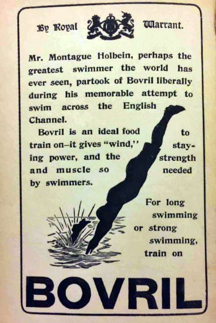Bovril Advert from Holbein's Book on Swimming 1903