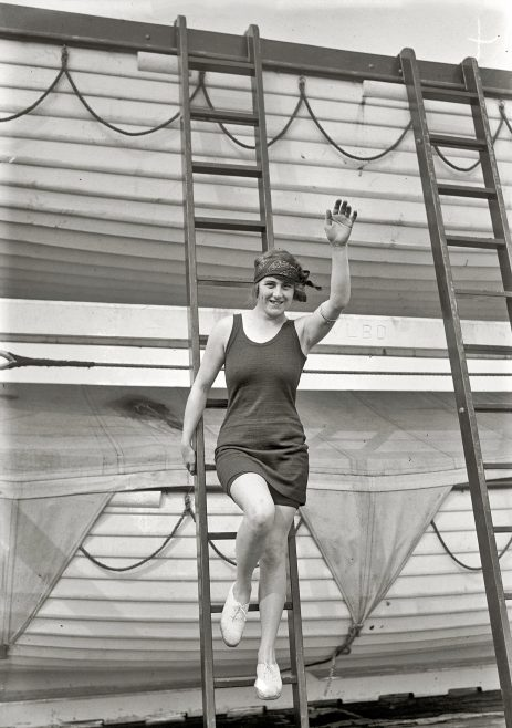 Hilda James aboard Carinthia, September 1925