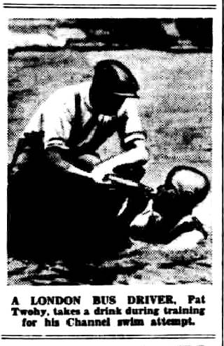 London Bus Driver Pat Twohy training - Daily Herald 1/8/1930