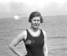 Miss Beatrice Spears on Deal beach